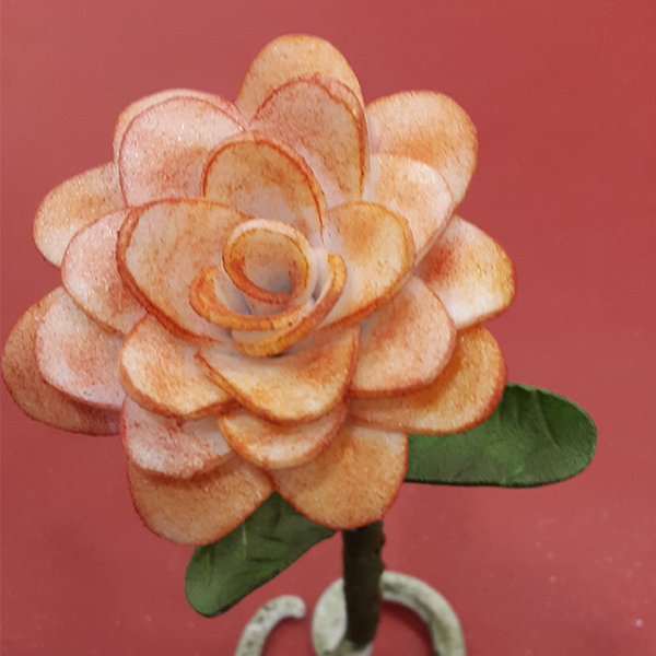 Flower made with worbla's pearly art